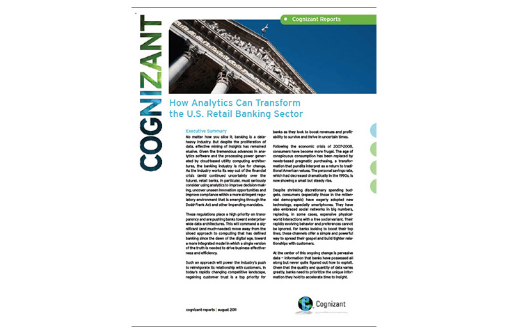 How Analytics Can Transform the U S  Retail Banking Sector