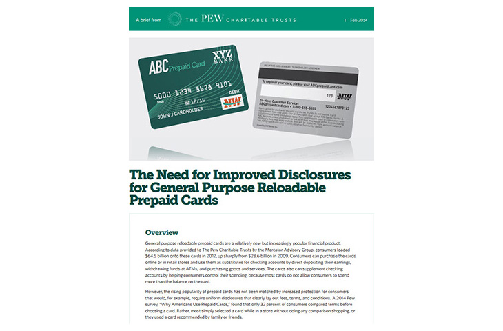 The Need for Improved Disclosures for General Purpose Reloadable