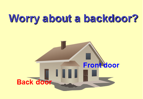 Worry about a back door